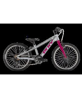 PUKY - Detský bicykel S PRO 20-7 Alu - strieborná/berry