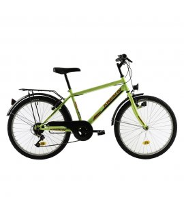 "KREATIV 2413 24"" - MODEL 2018 JUNIORSKÝ BICYKEL YELLOW NEON"