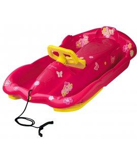 Riaditeľné detské boby AlpenSpace ružové s volantom