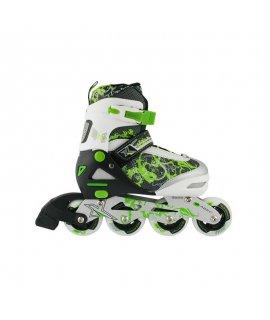 NILS NA 9012 A nastaviteľné korčule zelené